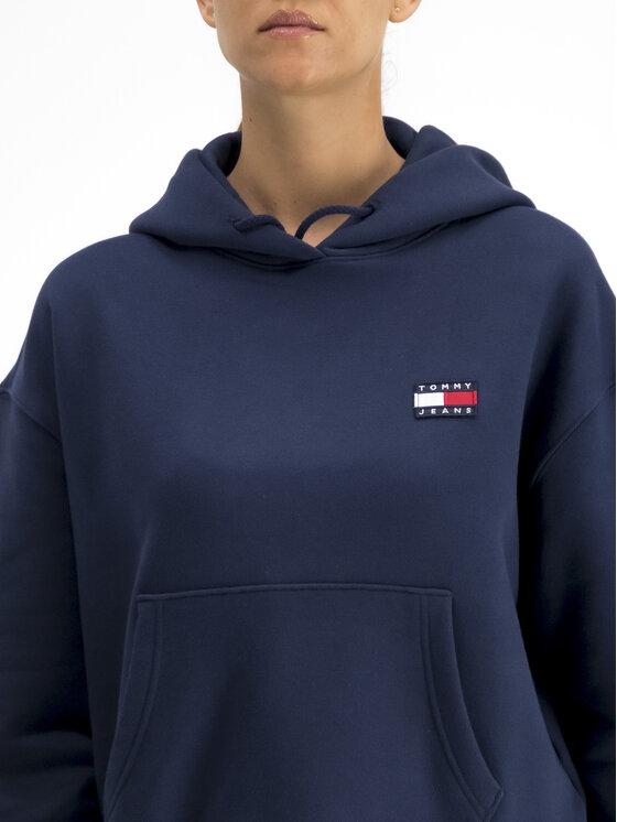 Tommy Jeans Tommy Jeans Bluza Badge Fleece DW0DW06815 Granatowy Oversize