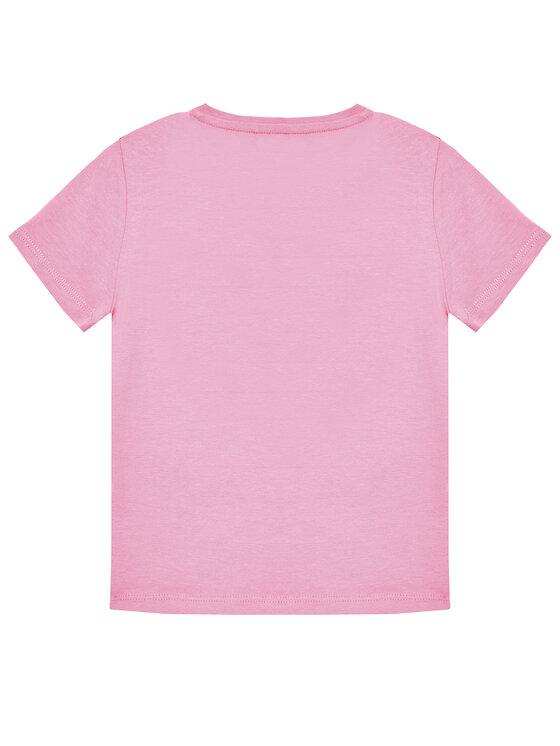 Guess Guess T-Shirt K1RI00 K6YW1 Różowy Regular Fit