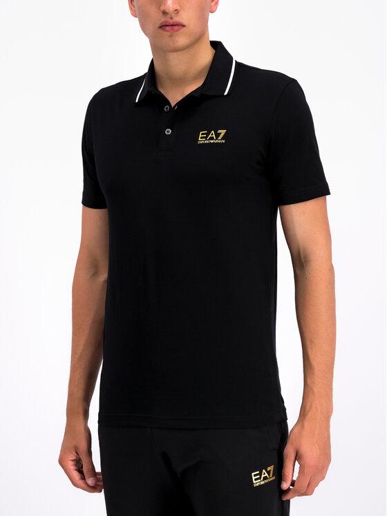 EA7 Emporio Armani EA7 Emporio Armani Тениска с яка и копчета 3GPF51 PJM5Z 0208 Черен Regular Fit