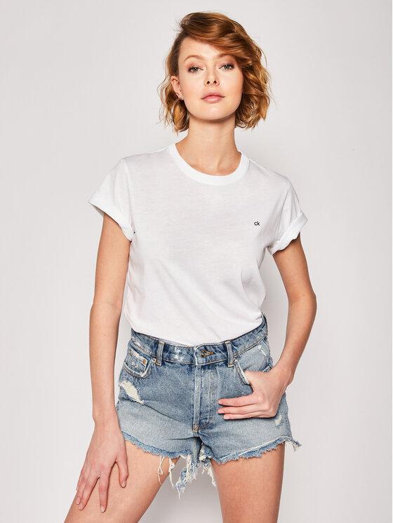 Calvin Klein Calvin Klein T-Shirt K20K201370 Biały Regular Fit