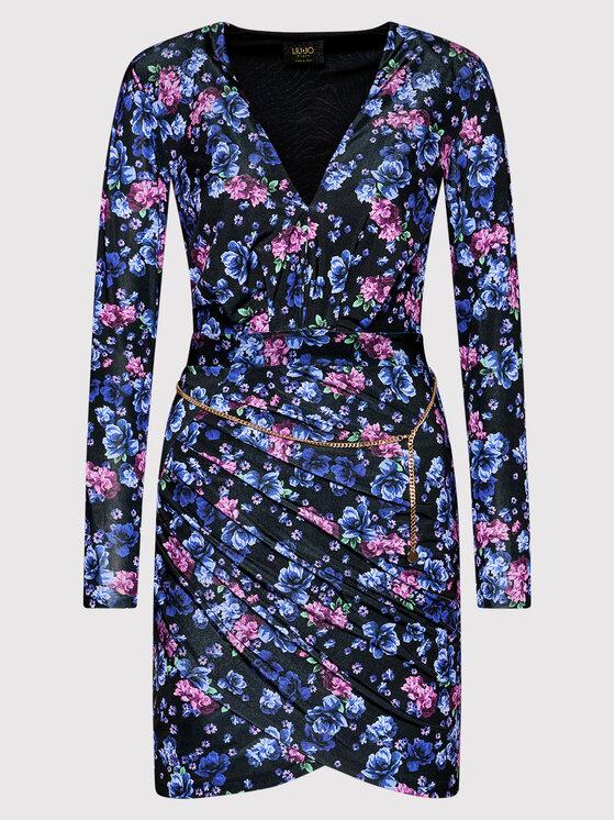Liu Jo Liu Jo Koktel haljina CF1221 J6265 Crna Regular Fit