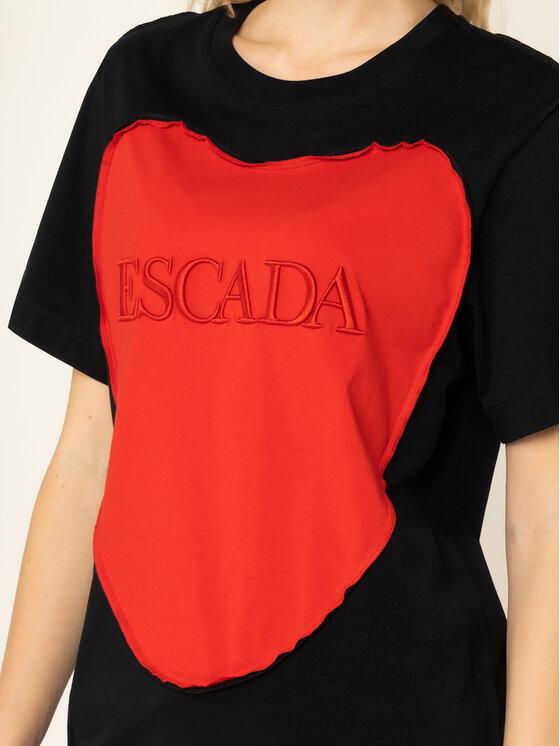 Escada Sport Escada Sport Póló RITA ORA Eherz 5032171 Fekete Regular Fit