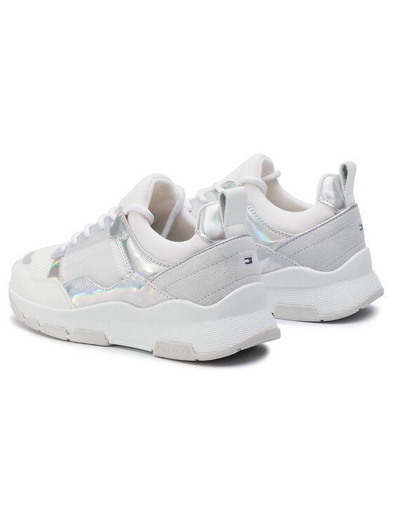 Tommy Hilfiger Tommy Hilfiger Sneakers Lifestyle Iridescent Sneaker FW0FW04391 Bianco