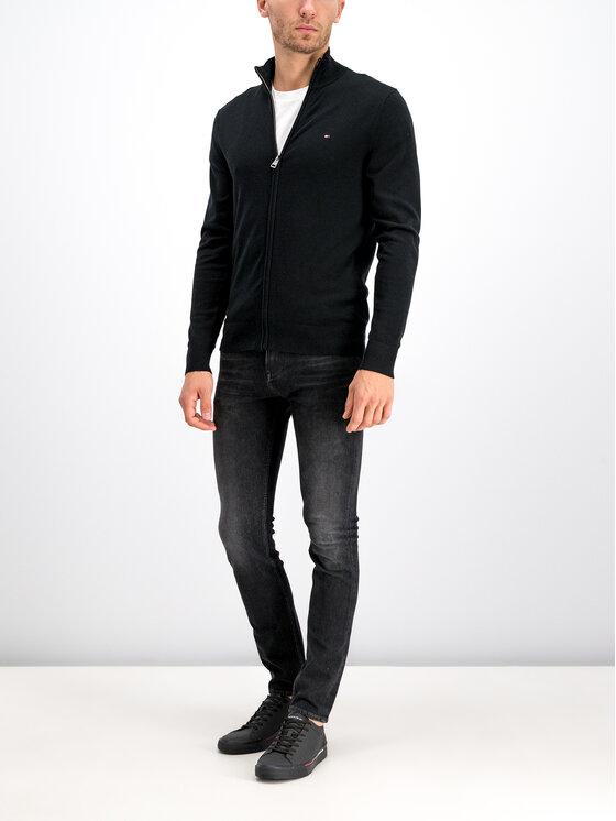 Tommy Hilfiger Tommy Hilfiger Pullover Organic Cotton MW0MW10864 Schwarz Regular Fit