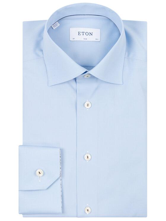 Eton Eton Camicia 100000492 Blu Slim Fit