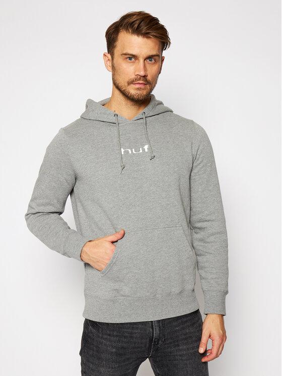 HUF Džemperis Peaking Hoodie PF00283 Pilka Regular Fit