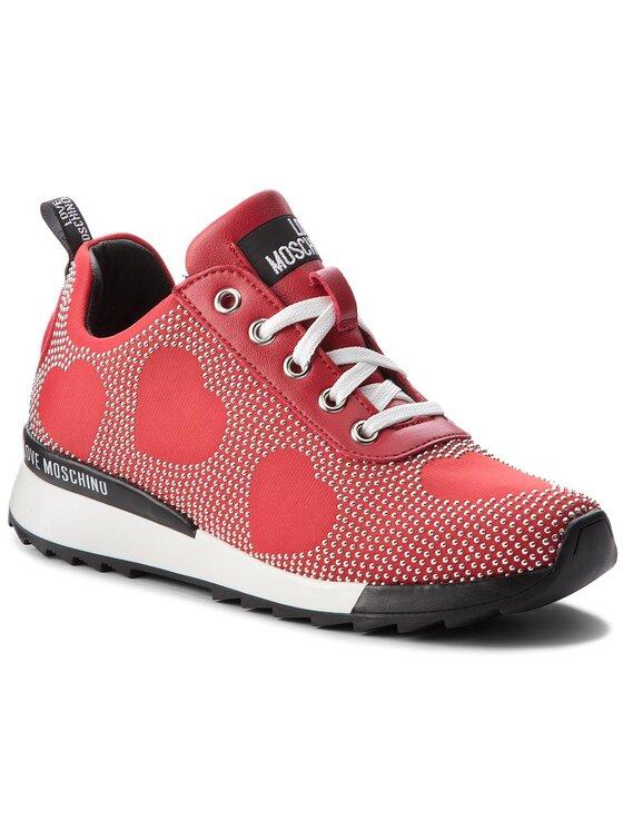LOVE MOSCHINO LOVE MOSCHINO Sneakersy JA15042G16IH0500 Czerwony