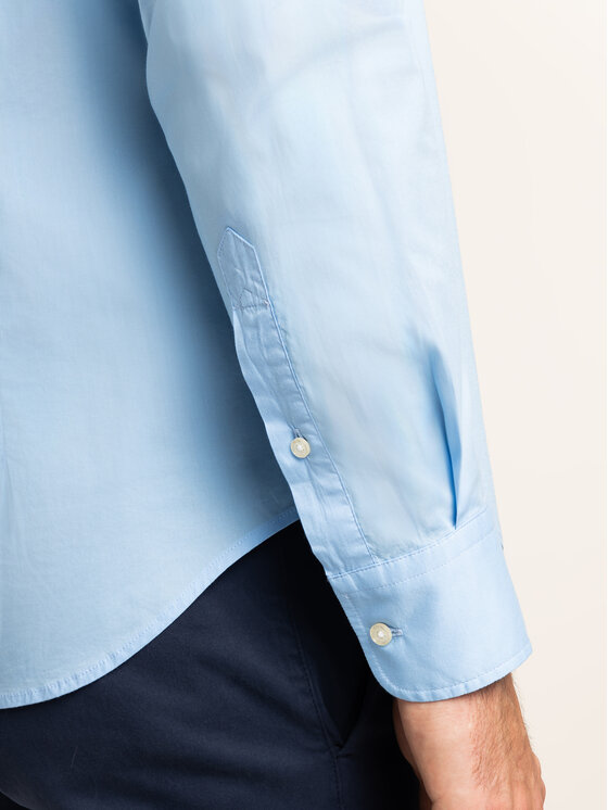 La Martina La Martina Marškiniai Poplin CCMC01 PP003 Mėlyna Regular Fit