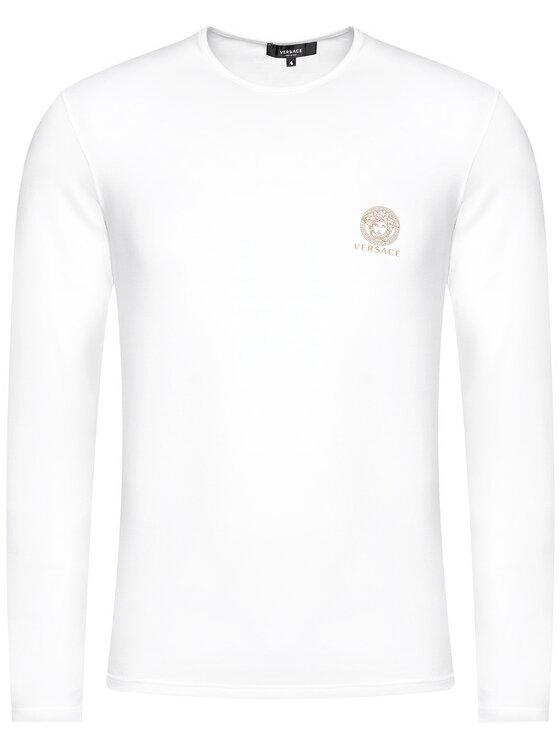 Versace Versace Longsleeve Girocollo AUU01007 Biały Regular Fit