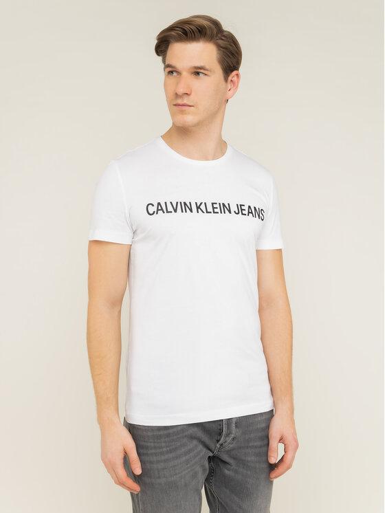 Calvin Klein Jeans Calvin Klein Jeans Тишърт Core Institutional Logo J30J307855 Бял Regular Fit