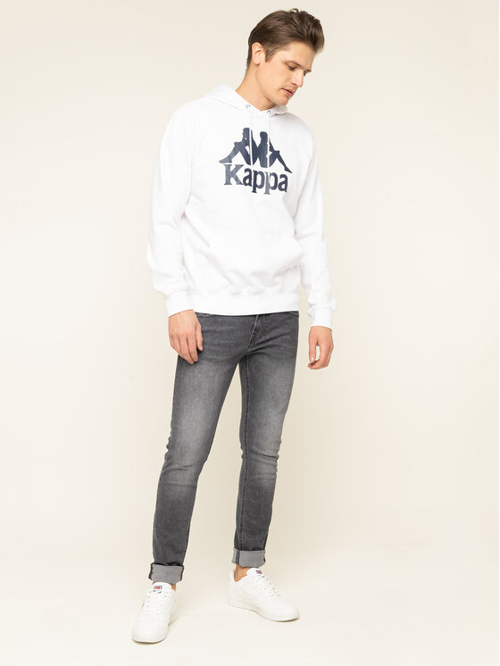 Kappa Kappa Pulóver Taino 705322 Fehér Regular Fit