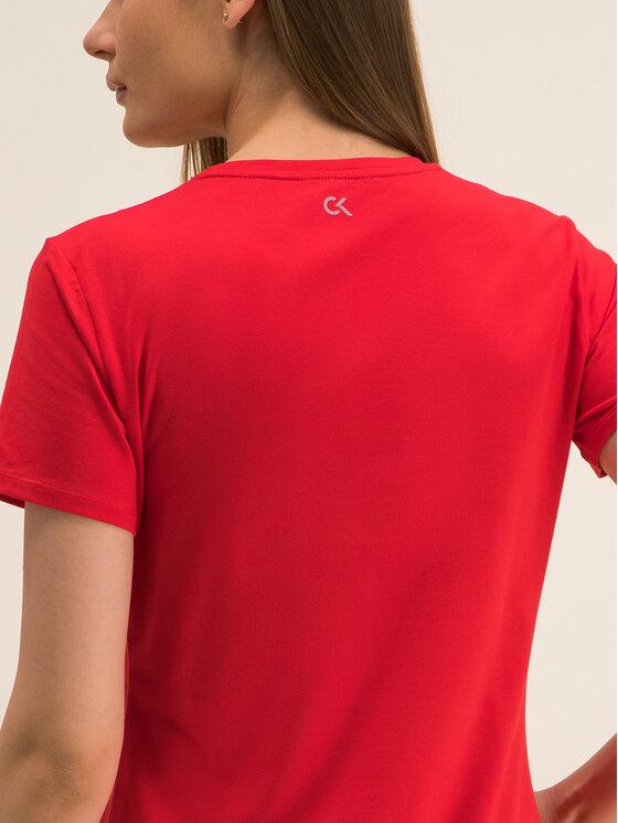 Calvin Klein Performance Calvin Klein Performance Marškinėliai Tee Logo 00GWF8K139 Raudona Relaxed Fit
