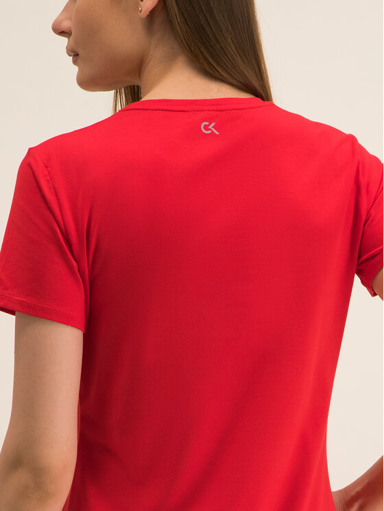 Calvin Klein Performance Calvin Klein Performance T-shirt Tee Logo 00GWF8K139 Rouge Relaxed Fit