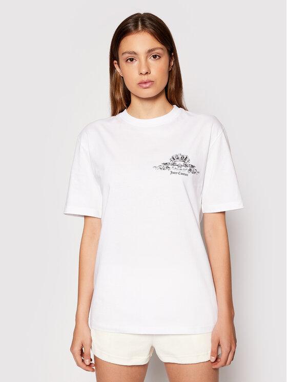 Juicy Couture Marškinėliai Crest Tee JCWC121085 Balta Regular Fit