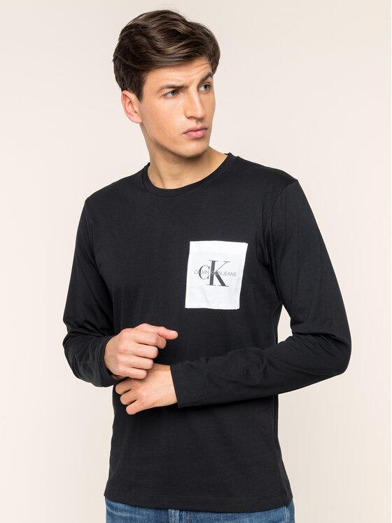 Calvin Klein Jeans Calvin Klein Jeans Longsleeve Monogram J30J313797 Schwarz Slim Fit