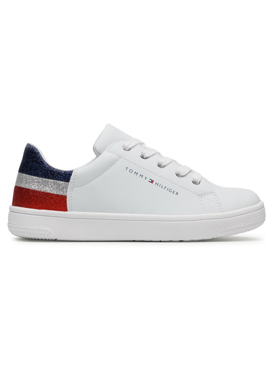 Tommy Hilfiger Tommy Hilfiger Sneakersy Low Cut Lace-Up T3A4-31019-1161 S Biały