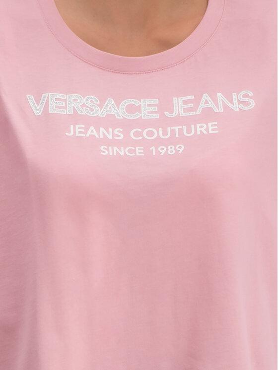 Versace Jeans Versace Jeans T-Shirt B2HTB7T6 Ροζ Regular Fit
