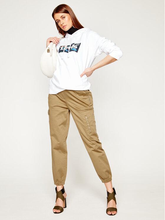 Levi's® Levi's® Mikina Graphic Sport Hoodie 35946-0119 Bílá Regular Fit