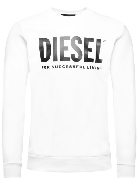 Diesel Diesel Суитшърт S-Gir-Division-Logo 00SWFH 0BAWT Бял Regular Fit