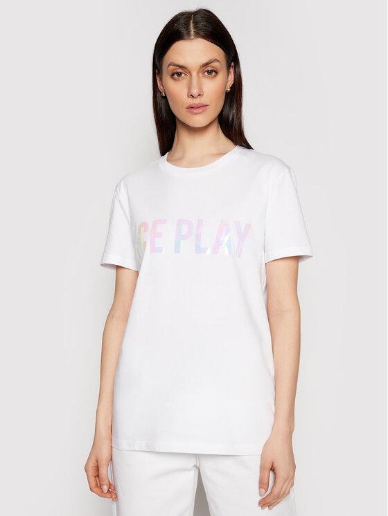 Ice Play Marškinėliai 21E U2M0 F026 P400 1101 Balta Regular Fit