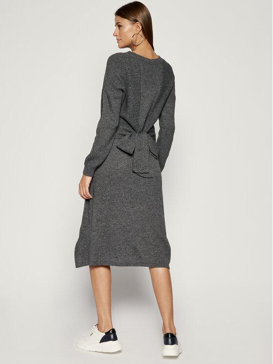 MAX&Co. MAX&Co. Sukienka dzianinowa 63249219 Szary Regular Fit