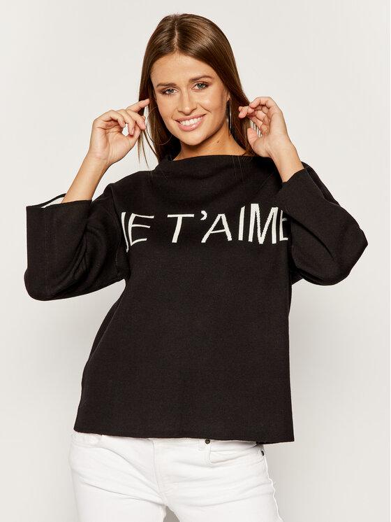 TWINSET TWINSET Sweter Comfort 192TP332F Czarny Oversize