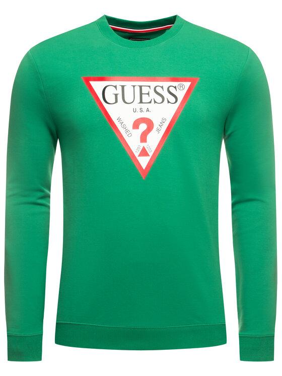 Guess Guess Felpa M01Q37 K6ZS0 Verde Slim Fit