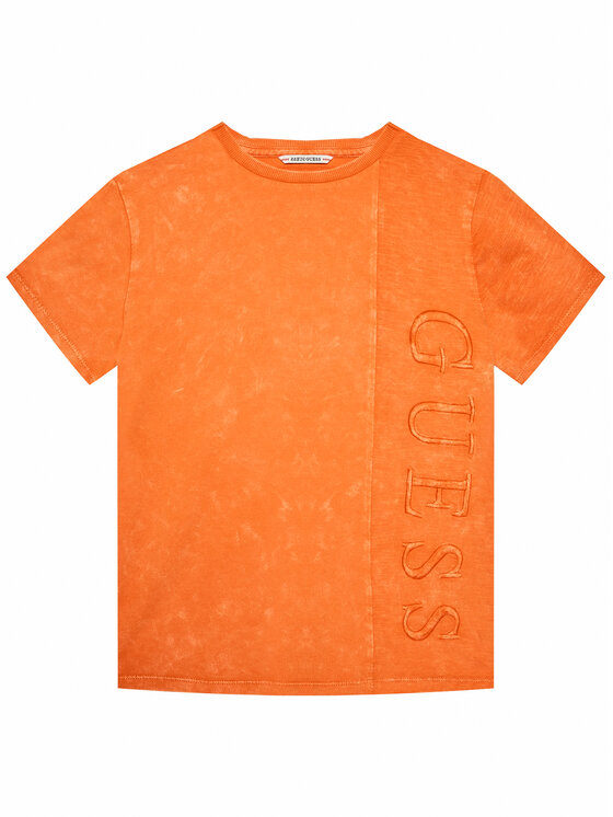 Guess Guess T-Shirt L1RI26 K8HM0 Pomarańczowy Regular Fit