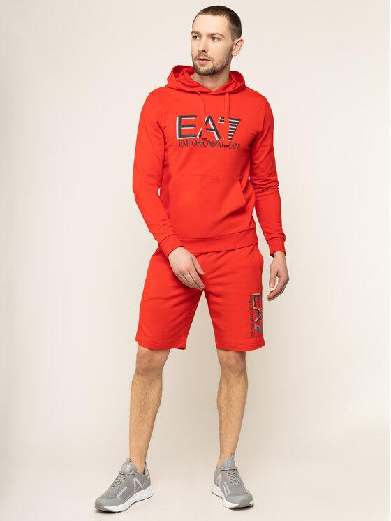 EA7 Emporio Armani EA7 Emporio Armani Pantaloni scurți sport 3HPS73 PJ05Z 1451 Roșu Regular Fit