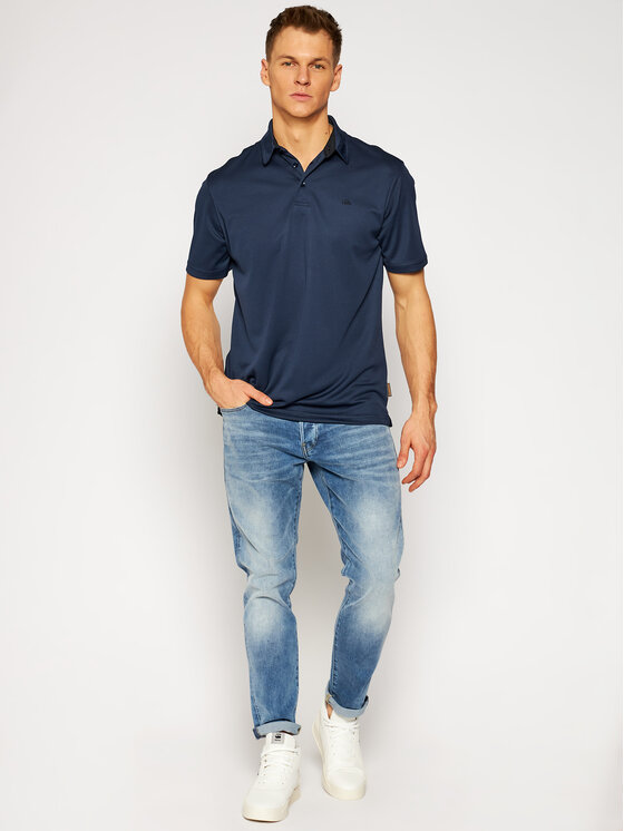 Quiksilver Quiksilver Polo Water EQMKT03046 Granatowy Classic Fit