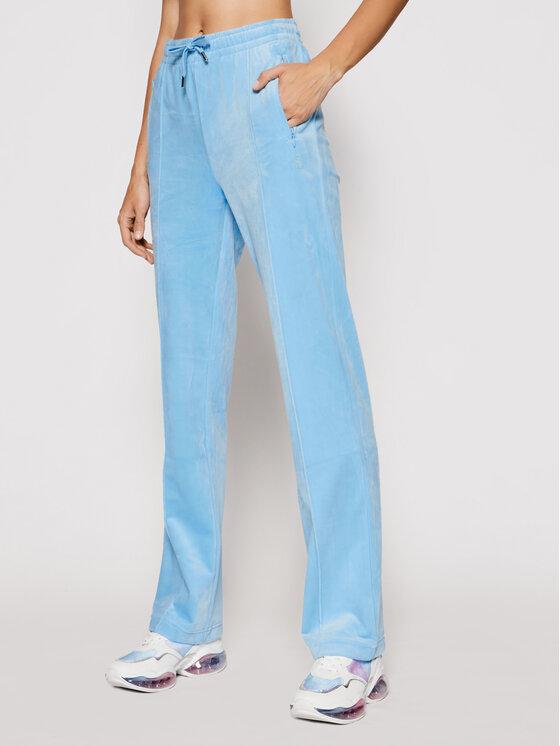 Juicy Couture Sportinės kelnės Velour Diamante JCAPW045 Mėlyna Regular Fit