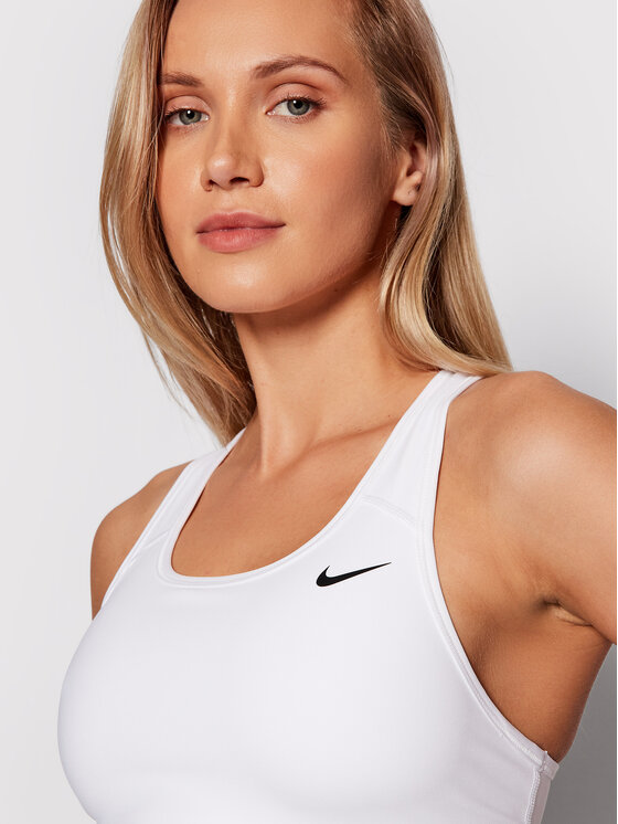 Nike Nike Sportski grudnjak Dri-Fit Swoosh BV3630 Bijela