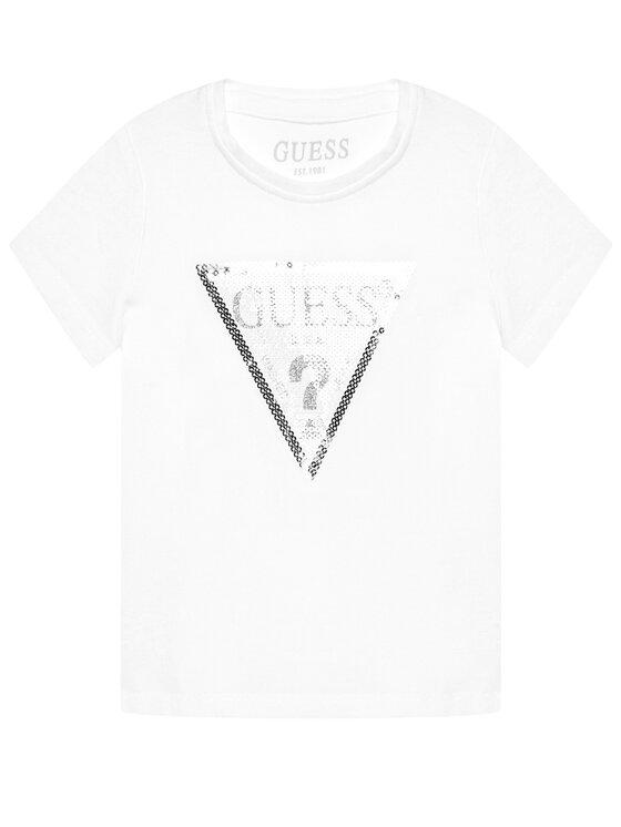 Guess Guess T-Shirt K1RI19 K6YW1 Biały Regular Fit
