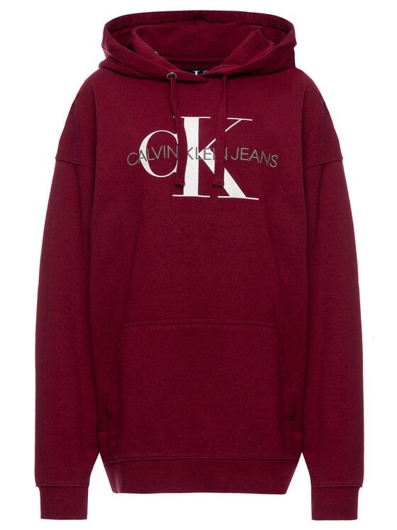 Calvin Klein Jeans Calvin Klein Jeans Pulóver Washed Monogram J20J212240 Bordó Oversize