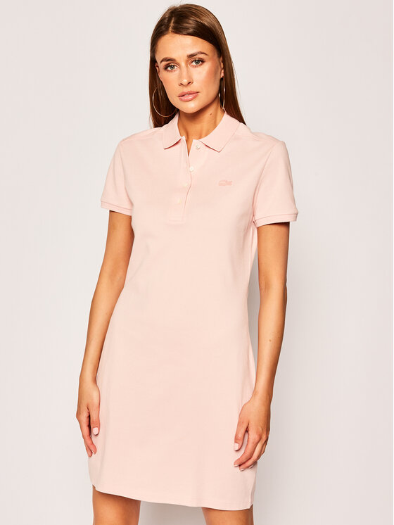 Lacoste Lacoste Kasdieninė suknelė EF5473 Rožinė Slim Fit
