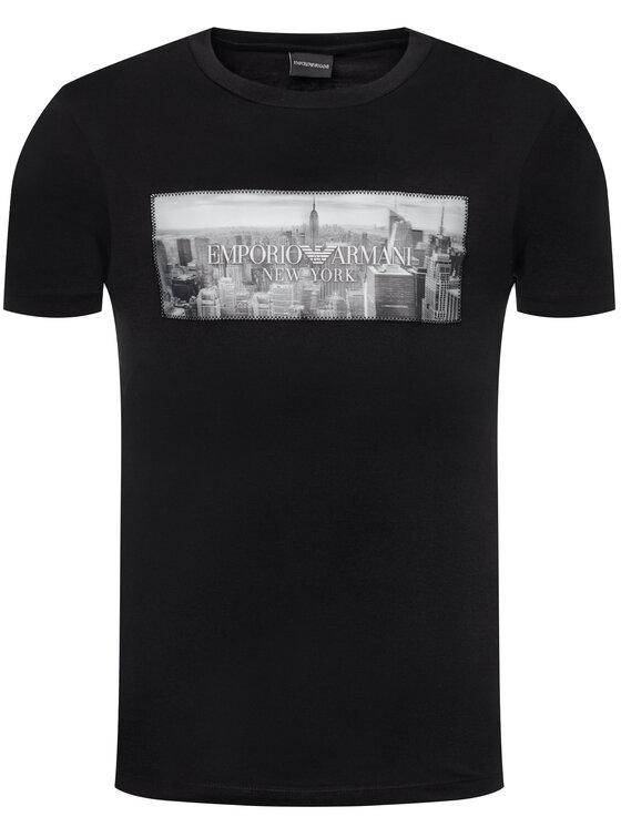 Emporio Armani Emporio Armani T-Shirt 3H1T62 1J30Z 0008 Černá Regular Fit