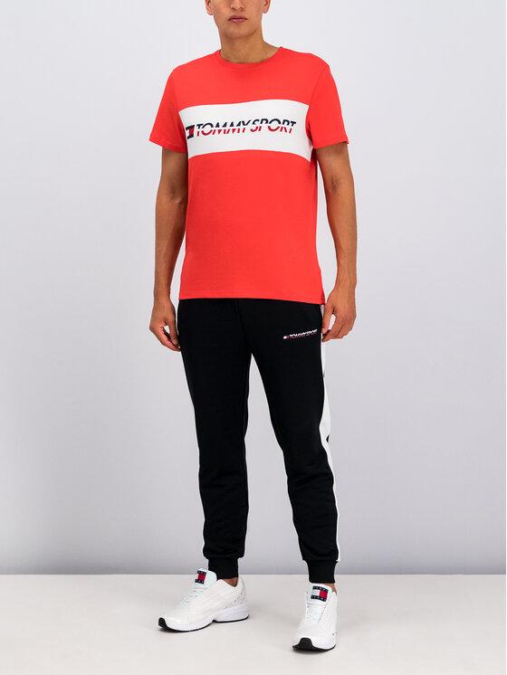 Tommy Sport Marškinėliai Logo S20S200082 Rožinė Regular Fit