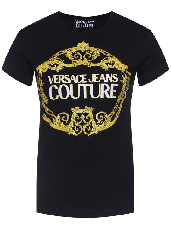Versace Jeans Couture Versace Jeans Couture Póló B2HVA7E0 Fekete Slim Fit