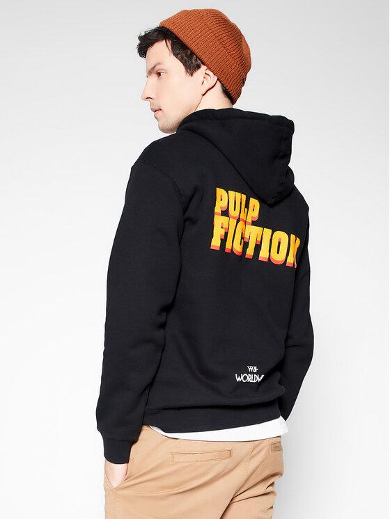 HUF HUF Bluză PULP FICTION Burger PF00339 Negru Regular Fit