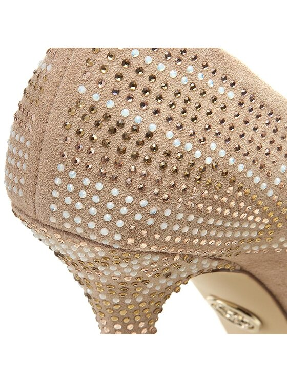 Guess Guess Обувки на ток Efia FLEFI1 SUE07 Бежов