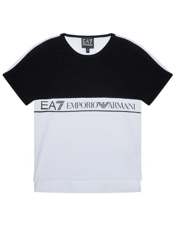 EA7 Emporio Armani EA7 Emporio Armani T-Shirt HFT51 FJT2Z 1100 Biały Regular Fit