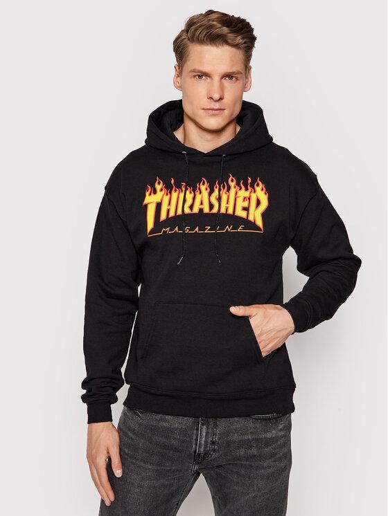 Thrasher Džemperis Flame Juoda Regular Fit