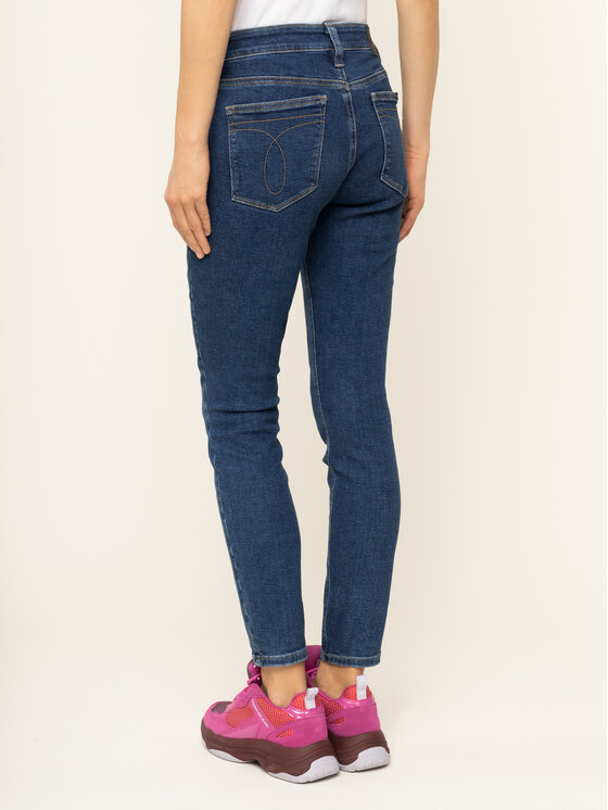Calvin Klein Jeans Calvin Klein Jeans Jeansy Slim Fit J20J213154 Granatowy Skinny Fit