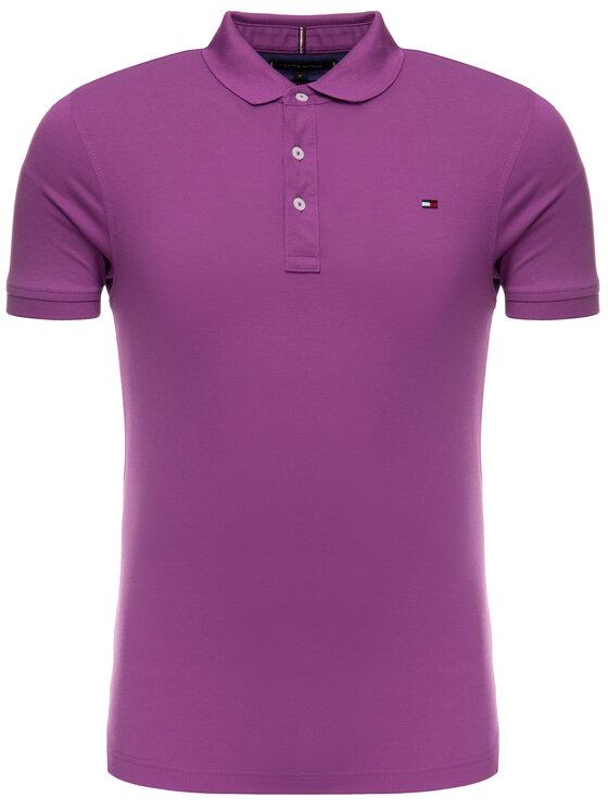 Tommy Hilfiger Tommy Hilfiger Polo marškinėliai MW0MW10764 Violetinė Slim Fit
