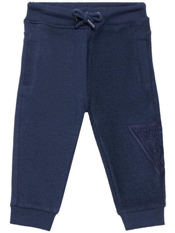 Guess Guess Spodnie dresowe N1RQ09 KA6R0 Granatowy Regular Fit