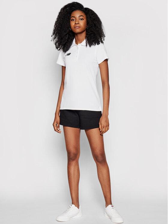 New Balance New Balance Polo WT71060 Biały Slim Fit