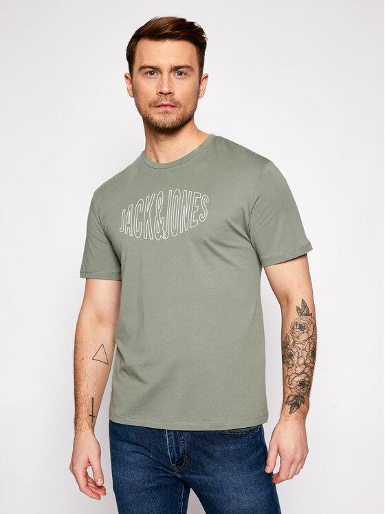 Jack&Jones Marškinėliai Preston Big 12192589 Žalia Relaxed Fit
