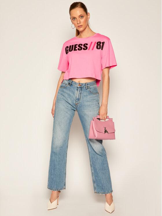 Guess Guess Tričko Clarissa W0YI91 K8FQ0 Ružová Regular Fit