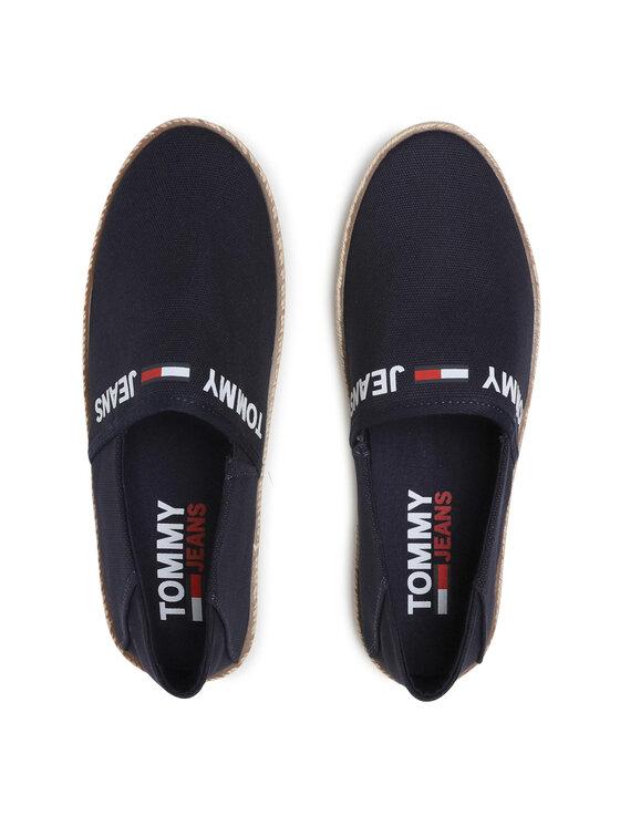 Tommy Jeans Tommy Jeans Espadryle Logo Espadrille EM0EM00676C87 Granatowy