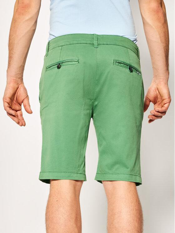 Pepe Jeans Pepe Jeans Pantalon scurți din material Mc Queen PM800227C75 Verde Regular Fit
